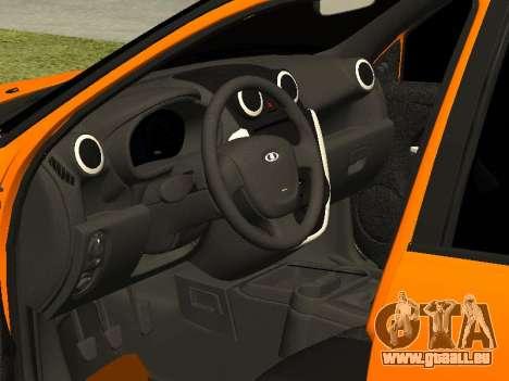 Lada Granta pour GTA San Andreas vue intérieure