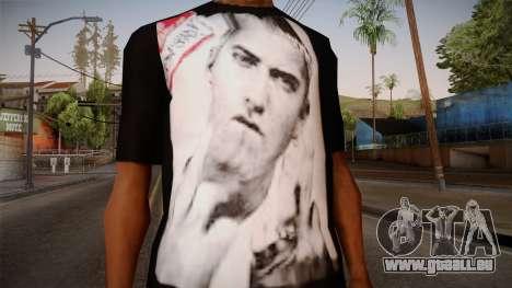 Eminem Fuck Off T-Shirt pour GTA San Andreas troisième écran