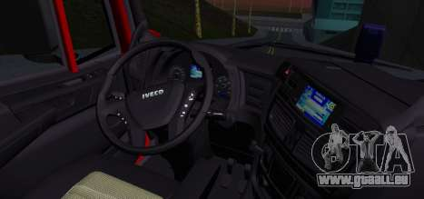 Iveco Stralis HI-ROAD pour GTA San Andreas sur la vue arrière gauche