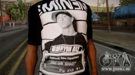 Eminem T-Shirt pour GTA San Andreas troisième écran
