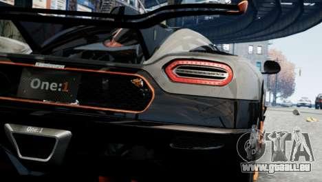 Koenigsegg One v2.0 für GTA 4 rechte Ansicht
