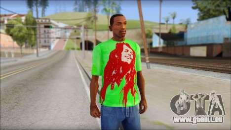 Bob Marley Jamaica T-Shirt pour GTA San Andreas