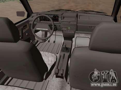 VAZ 21083 pour GTA San Andreas vue intérieure