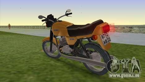Jawa 638 pour une vue GTA Vice City de la gauche