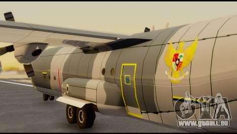 C-130 Hercules Indonesia Air Force pour GTA San Andreas sur la vue arrière gauche