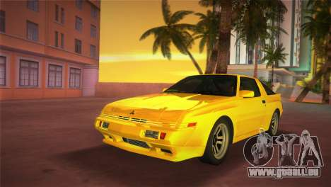 Mitsubishi Starion ESI-R 1986 pour GTA Vice City sur la vue arrière gauche