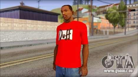 Duff T-Shirt für GTA San Andreas