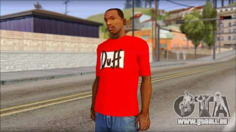 Duff T-Shirt pour GTA San Andreas