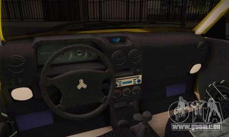 Kia Pride 132 pour GTA San Andreas sur la vue arrière gauche
