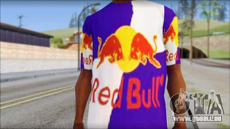 Red Bull T-Shirt für GTA San Andreas dritten Screenshot