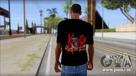 KoRn T-Shirt Mod für GTA San Andreas zweiten Screenshot