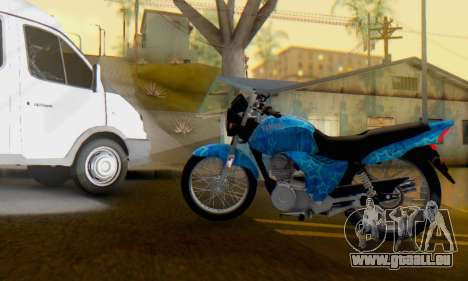 Yamaha YBR Blue Star für GTA San Andreas linke Ansicht