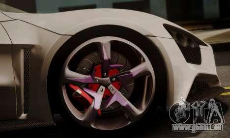 Zenvo ST SHDru Tuning pour GTA San Andreas vue de droite