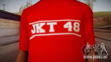 JKT48 Hardcore T-Shirt pour GTA San Andreas troisième écran
