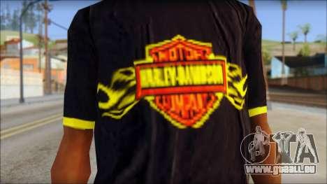 Harley Davidson T-Shirt pour GTA San Andreas troisième écran