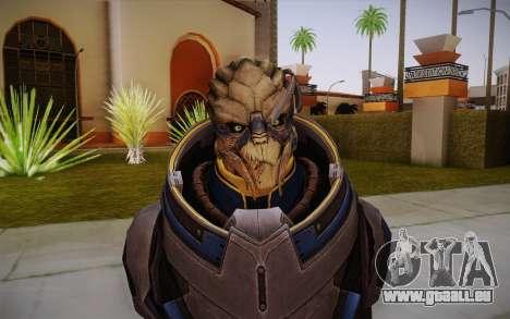 Garrus from Mass Effect 3 pour GTA San Andreas troisième écran
