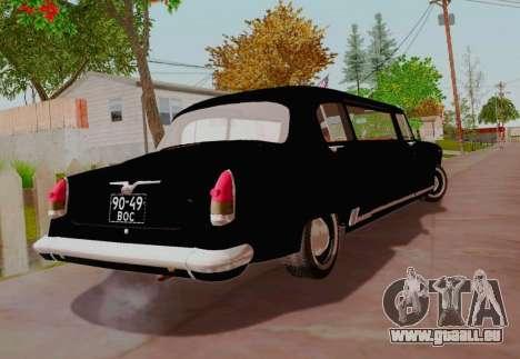 GAZ 21 Limousine pour GTA San Andreas sur la vue arrière gauche