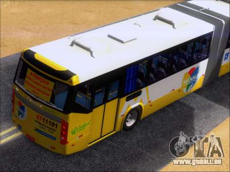 Прицеп Neobus Mega BHNS Volvo B12-340M pour GTA San Andreas vue de dessus