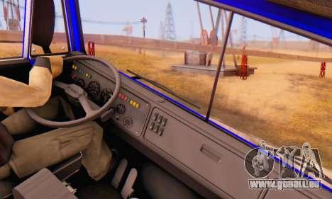 KamAZ 54112 FIV pour GTA San Andreas vue arrière