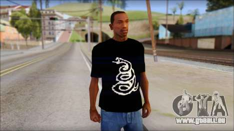 Metallica Logos T-Shirt pour GTA San Andreas