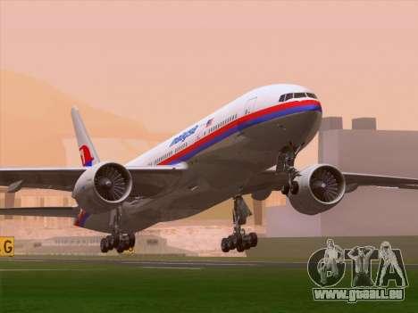 Boeing 777-2H6ER Malaysia Airlines pour GTA San Andreas laissé vue