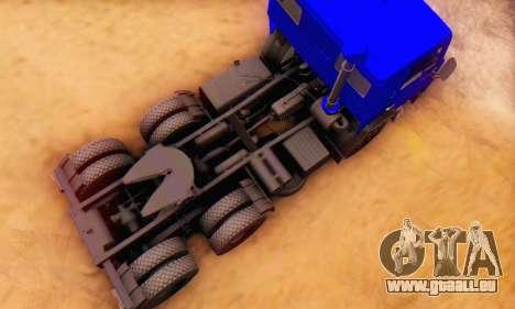 KamAZ 54112 FIV pour GTA San Andreas vue intérieure