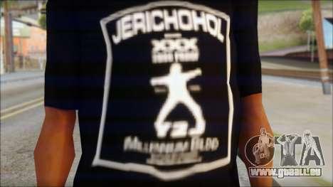 Chris Jericho Jerichohol T-Shirt pour GTA San Andreas troisième écran