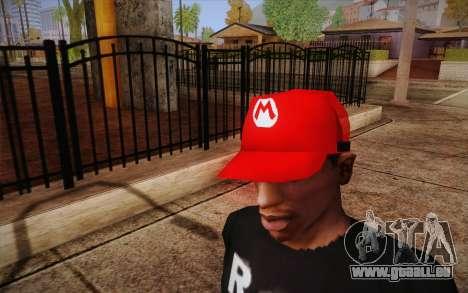 Super Mario Cap pour GTA San Andreas troisième écran