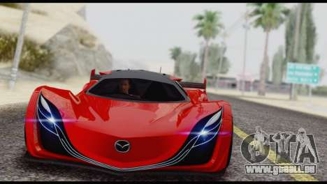Mazda Furai 2008 pour GTA San Andreas vue arrière