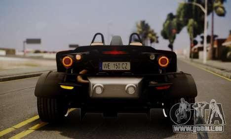 KTM X-Bow R 2011 für GTA San Andreas Seitenansicht