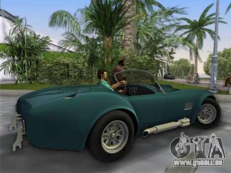 Shelby Cobra pour une vue GTA Vice City de la gauche