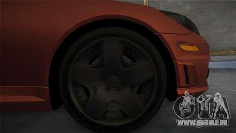 Mercedes-Benz SLK55 AMG Tuned für GTA Vice City zurück linke Ansicht
