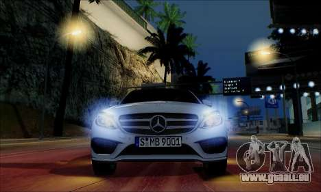 Mercedes-Benz C250 2014 V1.0 EU Plate für GTA San Andreas obere Ansicht