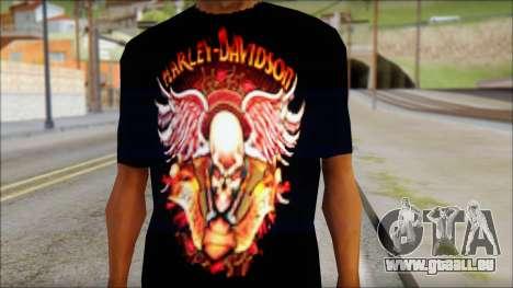 Harley Davidson Black T-Shirt für GTA San Andreas dritten Screenshot