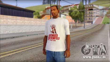 A7X Not Ready To Die Fan T-Shirt pour GTA San Andreas