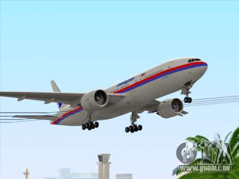 Boeing 777-2H6ER Malaysia Airlines pour GTA San Andreas salon