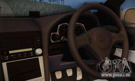 Nissan Skyline ER34 Itasha für GTA San Andreas zurück linke Ansicht