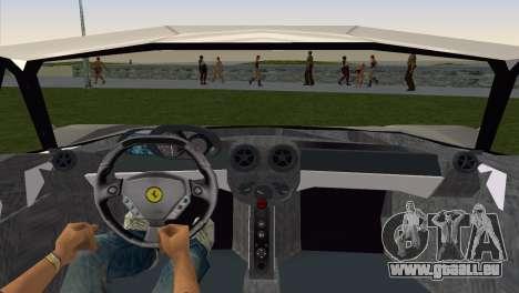 Ferrari Enzo 2003 pour GTA Vice City sur la vue arrière gauche