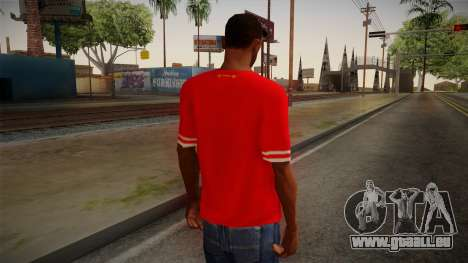 Liverpool FC 13-14 Kit T-Shirt für GTA San Andreas zweiten Screenshot