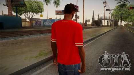Liverpool FC 13-14 Kit T-Shirt für GTA San Andreas zweiten Screenshot