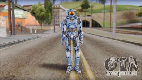 Masterchief Blue from Halo für GTA San Andreas zweiten Screenshot