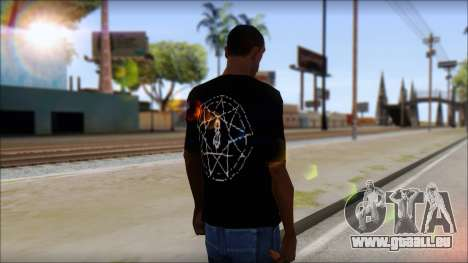SlipKnoT T-Shirt v4 für GTA San Andreas zweiten Screenshot