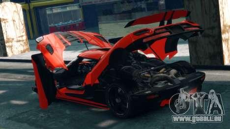 Koenigsegg Agera R 2013 pour GTA 4 est une vue de l'intérieur