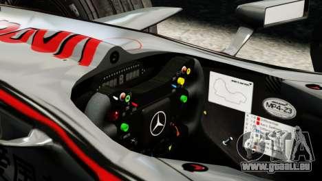 McLaren MP4-23 F1 Driving Style Anim pour GTA 4 Vue arrière de la gauche