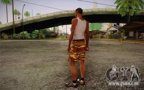 Camo Shorts Pants pour GTA San Andreas deuxième écran