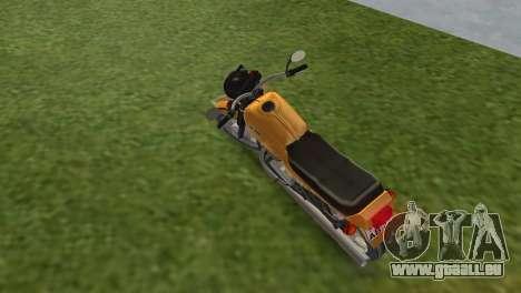 Jawa 638 pour GTA Vice City sur la vue arrière gauche