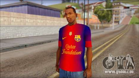 Barcelona Messi T-Shirt pour GTA San Andreas