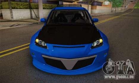 Mazda Speed 3 Tuning für GTA San Andreas Innenansicht
