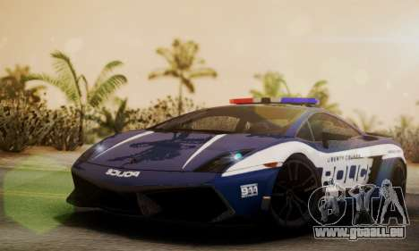 Lamborghini Gallardo LP570-4 2011 Police pour GTA San Andreas