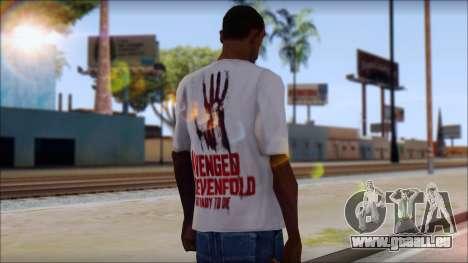 A7X Not Ready To Die Fan T-Shirt pour GTA San Andreas deuxième écran